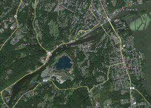 Google Eart of Rondout Creek