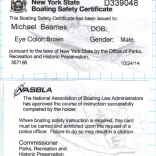 Michael Boating Safety Card