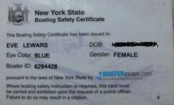 boating safety for eve lewars
